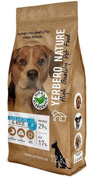 YERBERO Nature Salmon & Rice - Pienso hipoalergénico para perros