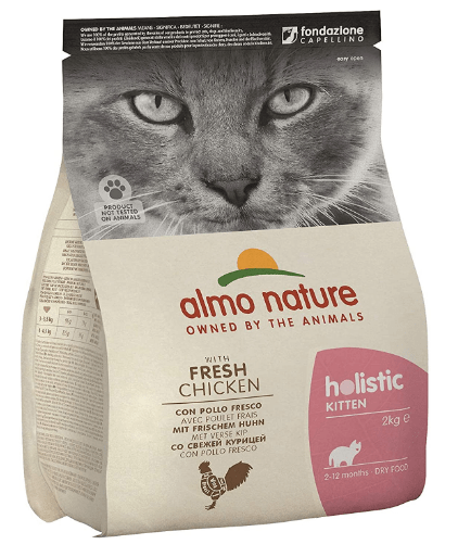 Almo nature Cat Dry Holistic - Pienso de pollo y arroz para gatito