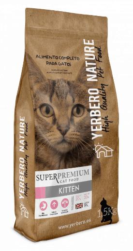 YERBERO Nature Kitten - Comida Superpremium para gatitos